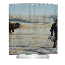 Frosty Feeding Shower Curtain