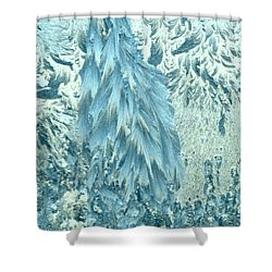 Frosty Forest Shower Curtain