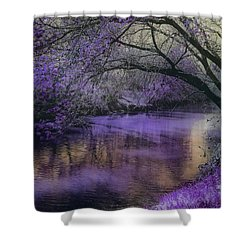 Frosty Lilac Wilderness Shower Curtain