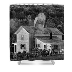 Shower Curtain featuring the photograph Frosty Morning by Denise Romano