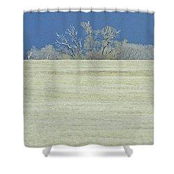 Frosty Morning Landscape Shower Curtain