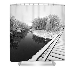 Frosty Morning On The Poudre Shower Curtain by James Steele