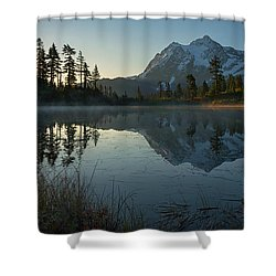 Shower Curtain featuring the photograph Frosty Picture Lake by Dan Mihai