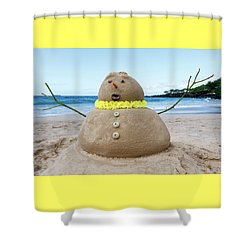 Frosty The Sandman Shower Curtain