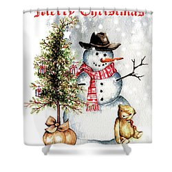 Frosty The Snowman Greeting Card Shower Curtain