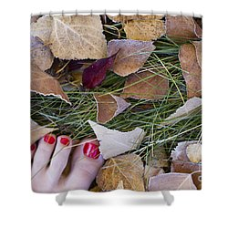 Frosty Toes Shower Curtain