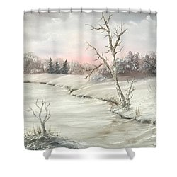 Frosty Winter Morning  Shower Curtain