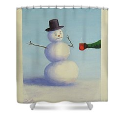 Frosty's Nightmare I Shower Curtain