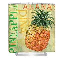 Froyo Pineapple Shower Curtain by Debbie DeWitt