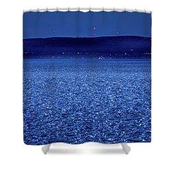 Frozen Bay At Night Shower Curtain by Onyonet  Photo Studios