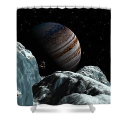 Frozen Blue Gem Shower Curtain by David Robinson