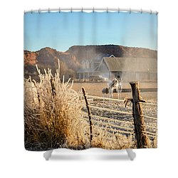 Frozen Blue Skies Shower Curtain