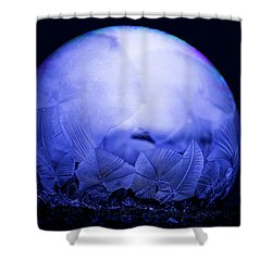 Frozen Bubble Art Blue Shower Curtain