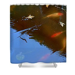 Frozen Carp Shower Curtain