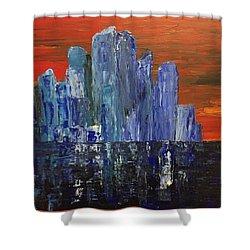 Frozen City Shower Curtain