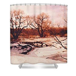 Frozen Creek Shower Curtain