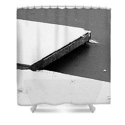 Frozen Dock Shower Curtain