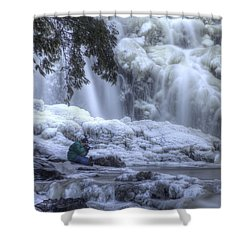 Frozen Falls Shower Curtain