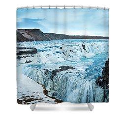 Frozen Gullfoss Shower Curtain