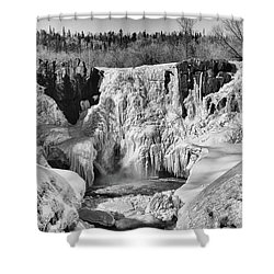 Frozen High Falls Shower Curtain