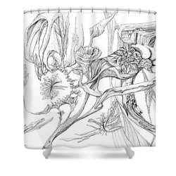 Frozen In Time Shower Curtain by Charles Cater