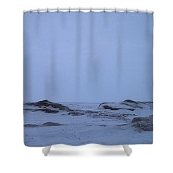 Frozen Lake Erie Shower Curtain