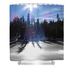 Sun Reflecting Kiddie Pond Divide Co Shower Curtain