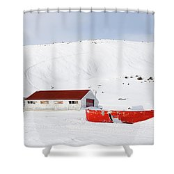 Frozen Life Shower Curtain by Nick Mares