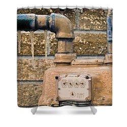 Frozen Meter Shower Curtain