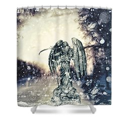 Frozen Shower Curtain by Mo T