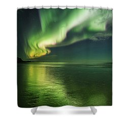 Frozen Reflection Shower Curtain