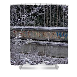 Frozen Revolution Shower Curtain