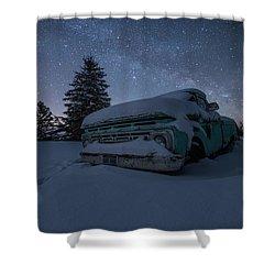 Shower Curtain featuring the photograph Frozen Rust  by Aaron J Groen