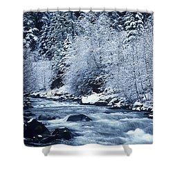 Frozen Salt Creek Shower Curtain by Greg Vaughn - Printscapes