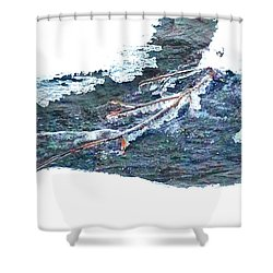 Shower Curtain featuring the photograph Frozen Stream  by Jennah Lenae