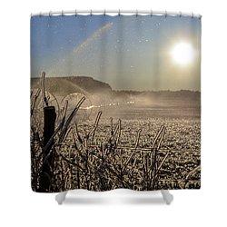 Frozen Sunrise Shower Curtain