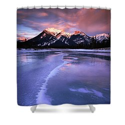 Frozen Sunrise Shower Curtain by Dan Jurak
