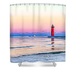 Shower Curtain featuring the photograph Frozen Sunset by Steven Santamour