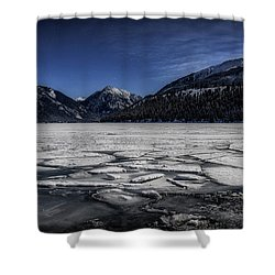 Shower Curtain featuring the photograph Frozen Wallowa Lake by Cat Connor