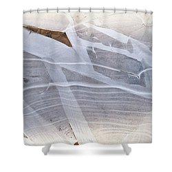 Frozen Water On Ground Shower Curtain
