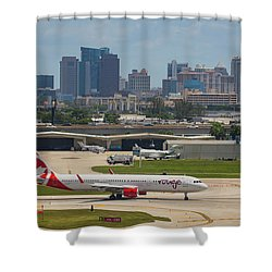 Frt Lauderdale Airport/city Shower Curtain