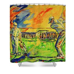 Fruehen Morgen Spiel   Early Morming Game Shower Curtain by Koro Arandia