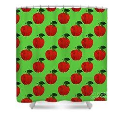 Fruit 02_apple_pattern Shower Curtain by Bobbi Freelance