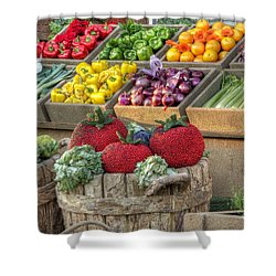 Fruit And Veggie Display Shower Curtain