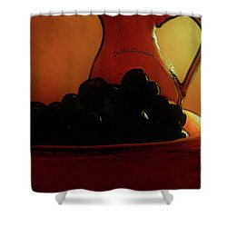 Fruit Art Plate Of Fruits And Jar Shower Curtain