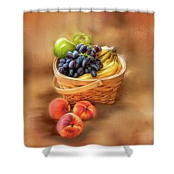 Fruit Basket Shower Curtain by Mary Timman