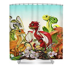 Fruit Medley Dragons Shower Curtain