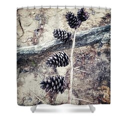 Fruit Of The Pine Shower Curtain