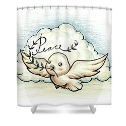 Fruit Of The Spirit Peace Shower Curtain