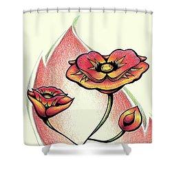 Vibrant Flower 1 Poppy Shower Curtain
